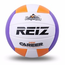 REIZ Official Size 5# PU Volleyball Bright Color Match Volleyball Indoor & Outdoor Training Ball With Free Gift Net Needle