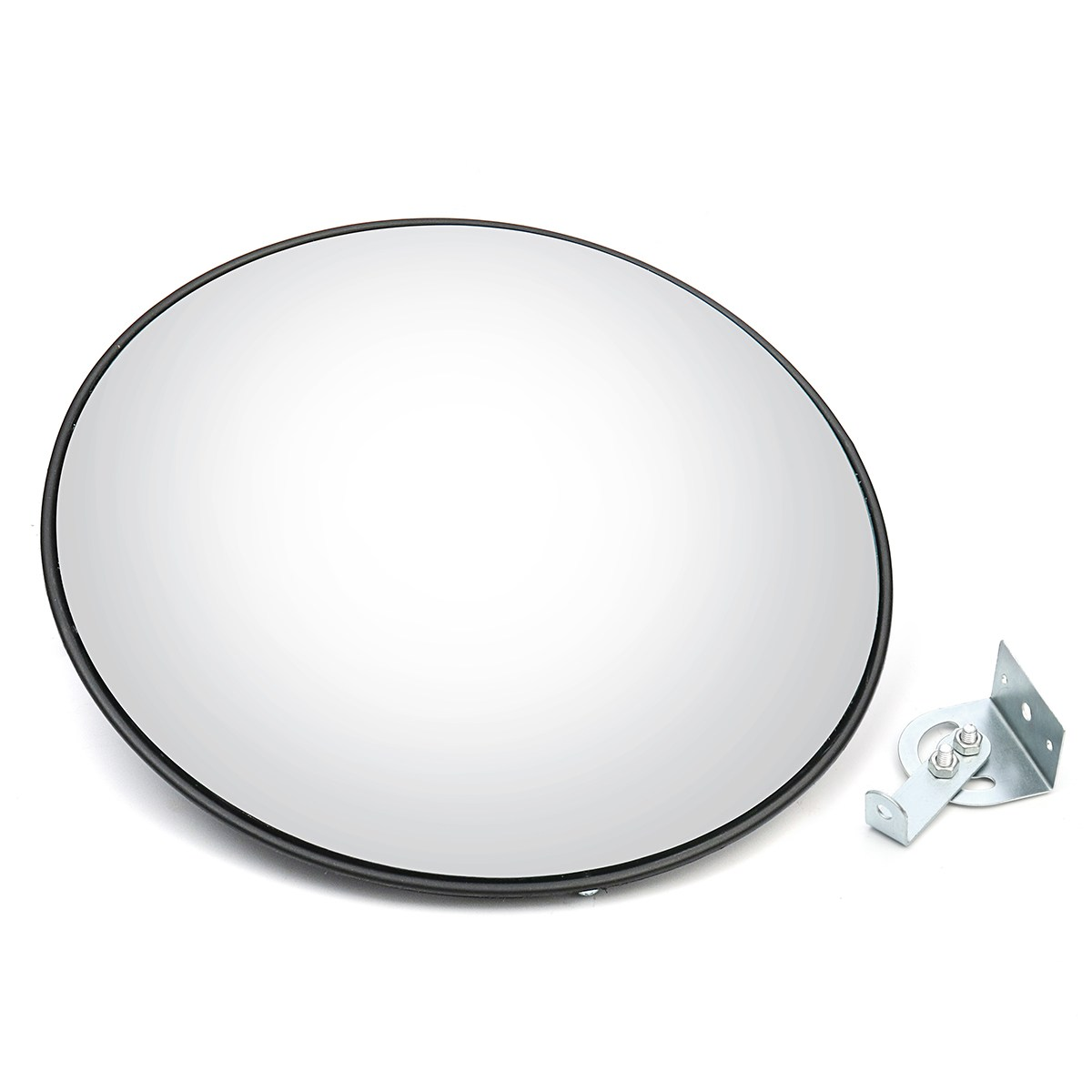 Safurance 45 cm Wide Angle Curved Convex Security Road Mirror For Indoor Burglar Traffic Signal Roadway Safety<br>