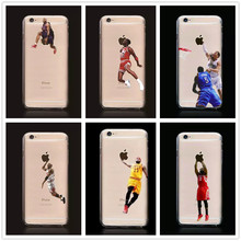 New Kobe Bryant Stephen Curry Basketball Stars Case for iPhone 6s Michael Jordan LeBron James Soft TPU Cover for iPhone 6(China)