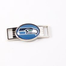 Seattle Seahawks USA Football Team Logo Shoelace Charms For New Sneakers Football Sport Shoes Decoration 10pcs/lot