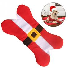 Popular Holiday Cute Bone Shape Design Pet Dog Sleeping Nap Mat Pet Cat Bed Couch Pad Dog Supplies with Belt