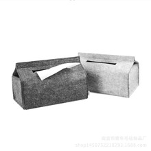 Simple Felt Household Tissue Box Holder Rectangle Shaped Paper Container 3 Colors Modern for Home Office and Car(China)