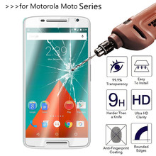 Tempered Glass Screen protector For Motorola moto G2 G4 G Plus x z Play style x2 nexus6 nexus 6 e e2 Droid Turbo 2.5D Film Case(China)