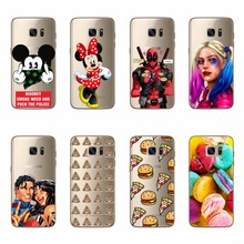 Mickey Minnie Deadpool Harley Quinn Cartoon Silicone TPU Phone Case For Samsung Galaxy J1 2015 Model Back Soft Funda Capa Covers(China)