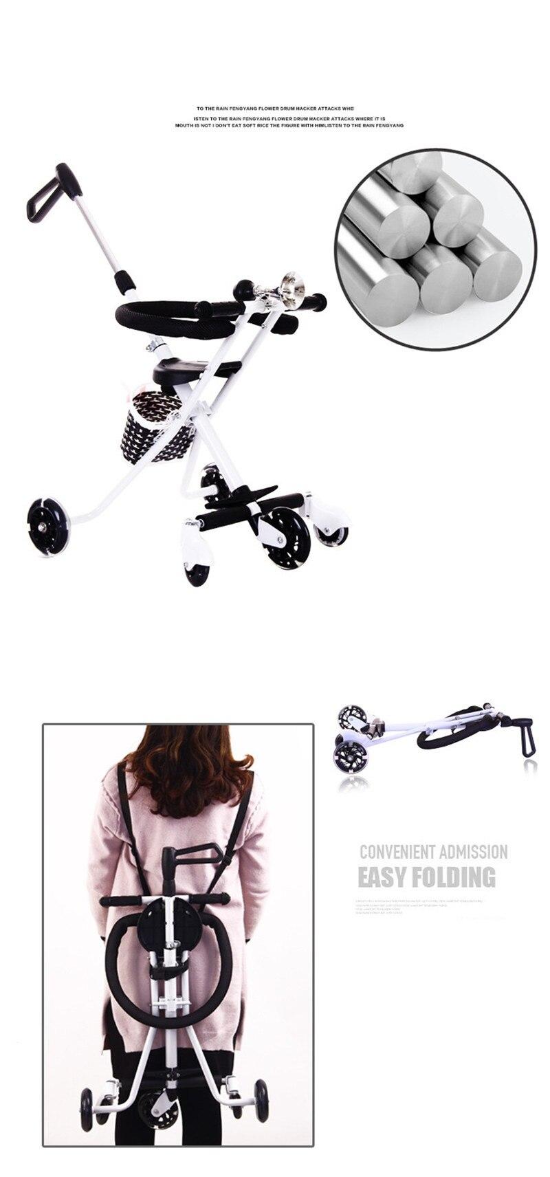 Children\'s Five-Wheeled Baby Anti Rollover Portable Folding Car Mother & Kids Activity & Gear Baby Stroller Lightweight Stroller03