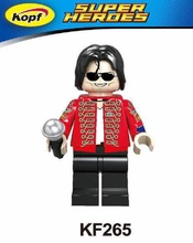 Single Sale Super Heroes Custom Halloween Michael Jackson Thriller Zombie Building Blocks Collection Toys for children KF265