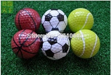 Free Shipping Sports golf balls double ball for golf best gift for friend 6pcs/bag(China)