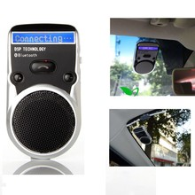 Solar Powered Speakerphone Wireless Bluetooth Handsfree Car Kit For Mobile Phone Dual Phone Connect(China)