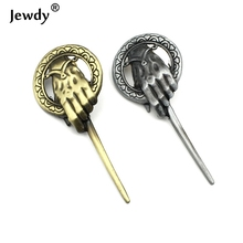 7 cm Game of Thrones Song of Ice And Fire Brooch Hand of the King Lapel Inspired Authentic Prop Badge Brooch Pins Movie Jewelry