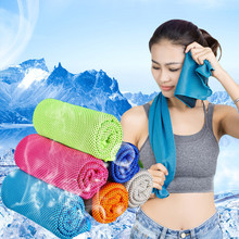 ISHOWTIDENDA   2017 New Fitness Dry Cooling Sports Towel For Gym Best Workout face Iced Sweat Towels IceTowel