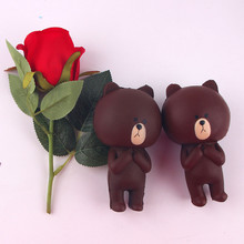 Fun Squishying Toy Brown Bear Jumbo 11cm Slow Rising Toy With Packaging Collection Decor Gift Toy For Children