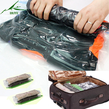 2PC Transparent Plastic Manually Compressed Vacuum Bags Women Man Baby Travel Space Saver Bags Clothes Quilt Storage Organizer