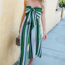 7e87f5e0f2f Off Shoulder Bow Wide Leg Pant Casual Summer Jumpsuit Women Striped Backless  Sexy Strapless Rompers dcj18629