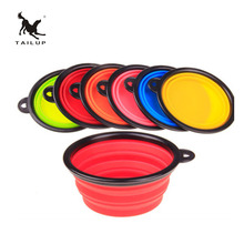TAILUP Super Deal Dog Cat Travel Silicone Collapsible Feeding Dish Pet Water Food Bowl For Puppies(China)