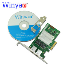 Winyao WY580-T2 PCI-E X4 10/100/1000Mbps Dual Port Gigabit Ethernet Network Interface Card 2*RJ45 Compatible Intel I340-T2 82580