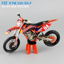 1 12 scale small KTM 250 SX-F No.94 KEN ROCZEN AMA Supercross team riding Motorcycle Diecast metal Model race motor bike car toy(China)