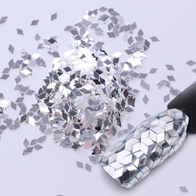 Silver Mermaid Rhombus Nail Sequins 2mm Shiny Sparkle Unicorn Mirror Glitter Paillettes Flakes Tips Manicure Nail Art Decoration(China)