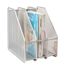 Mesh Metal 3 Compartment Freestanding Desktop Documents / Magazines / Notebooks / Folder Organizer Rack