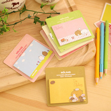 1 Pics Cute Bear Girl Notebook Sticky Notes Kawaii Stationery Post It Diary Stickers Memo Pads Paper Animal Sheet(China)