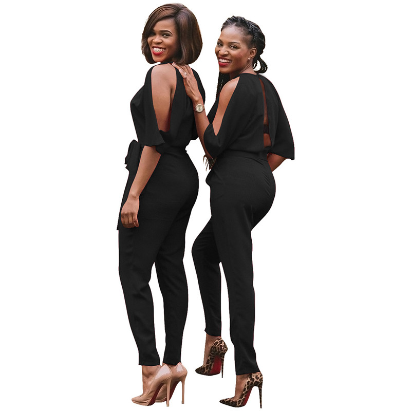 EleJumpsuit Long Pants Women Rompers 2017 Spring Autumn Sexy (4)