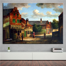 NO FRAME Home Printed Thomas Kinkade COUNTRY andscape Oil Painting Canvas Prints Wall Art Pictures For Living Room Decorations(China)