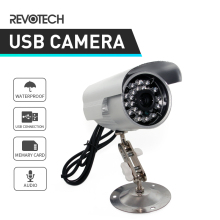 Hot Sale USB TF Card Record 24IR Outdoor Security Bullet Surveillance Camera Cam 1/4 CMOS 420TVL