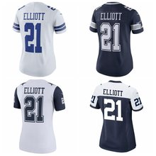 Women's Dallas Sean Lee Ezekiel Elliott Dak Prescott Troy Aikman Emmitt Smith Jason Witten Dez Bryant cowboys jersey(China)