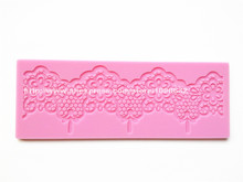 Free Shipping New Instant Lace Fondant Cake Lace Silicone Mold Sugar Paste Cake Decoration Sugar Art Tools PND-09
