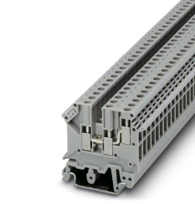 50PCS UK5-TWIN UK5RD 4mm2 DIN Rail Screw Clamp Fuse Terminal Blocks Connector<br>