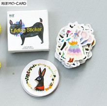 1 lot = 1 pack = 45 pcs MO.CARD forest party mini paper seal sticker Decoration label(China)