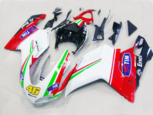 Plans to customize For Ducati 1098 1198 848 2007-2011 injection molding ABS Plastic motorcycle Fairing Kit Bodywork D33
