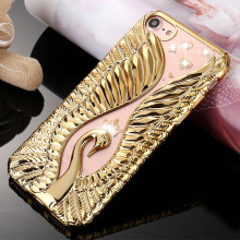 "Buy iPhone 7 Case Luxury Bling Swan Diamond Cover iphone 6S 6 7 Plus 4.7 5.5"" Soft Silicone Thin Electroplating Phone Cases for $2.65 in AliExpress store"