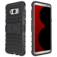 Cell Phone Cases Covers For Samsung Galaxy S8 Plus S8+ SM-G955 PC TPU Hybrid Military Armor Kickstand Hood Shell Bags Housing