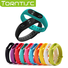 1 pcs Xiaomi mi band 2 Wrist Strap Belt Silicone Colorful Wristband for Mi Band 2 Smart Bracelet for Xiaomi Band 2 Accessories(China)