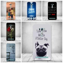 Luxury Cartoon Case Silicon Back Cover For Asus ZenFone 2 Laser ZE500KL Case TPU Gel Back Cover Soft Silicone Tempered Glass