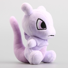 High Quality 10 Pcs/Lot Q Version Mewtwo Plush Dolls Purple Color Soft Stuffed Toys 16 CM(China)