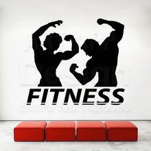 Good quality new art design fitness gym decoration vinyl wall Sticker Removable house decor physical sports room decals