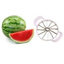 Watermelon Slicer Cantaloupe Cutter Stainless Steel Kitchen Melon Cutting Knife Fruit Slice Vegetable Corer Tools - Dreamy Rest 7 Store store