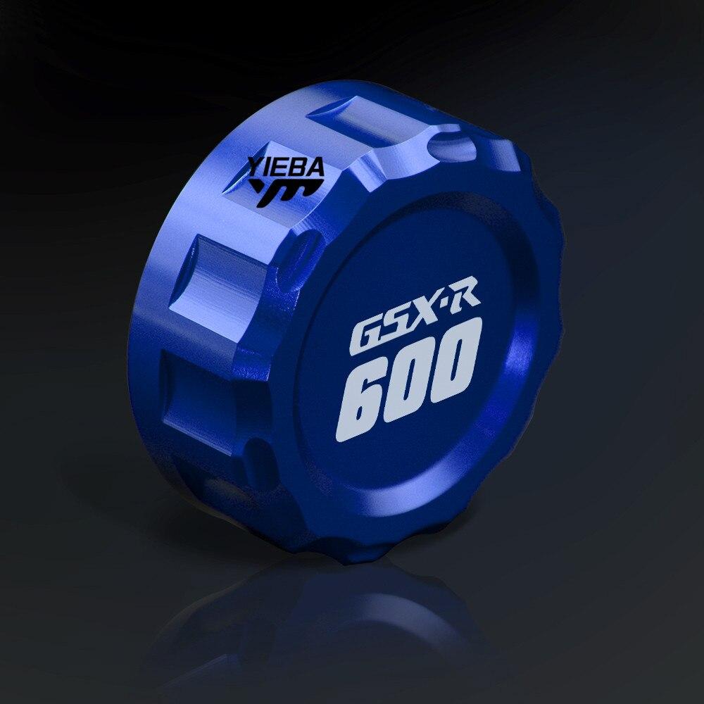 For SUZUKI GSXR 600 750 GSXR600 GSXR750 2011 2012 2013 2014 2015 2016 LOGO GSXR600 GSXR600 CNC Rear Fluid Reservoir Cover Cap