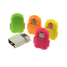 Micro USB To USB OTG Adapter 2.0 Converter random color For Android Samsung Galaxy xiaomi Tablet Pc to Flash Mouse Keyboard