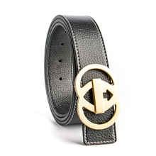 Buy ECHAIN Luxury Solid Brass Double G Designer Belts Men High Male Women Genuine Real Leather GG Buckle Strap Jeans for $12.64 in AliExpress store