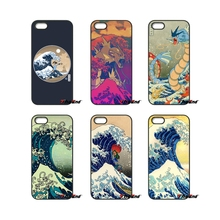 For iPod Touch iPhone 4 4S 5 5S 5C SE 6 6S 7 Plus Samung Galaxy A3 A5 J3 J5 J7 2016 2017 The Great Wave Off Kanto pokemon Case