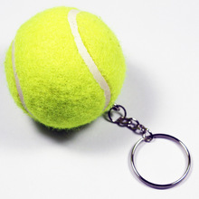 New Design Tennis Ball Key chain Car Key Ring sport chain sliver color Bag pendant KeyChains For Man Women Gift wholesale 17109(China)