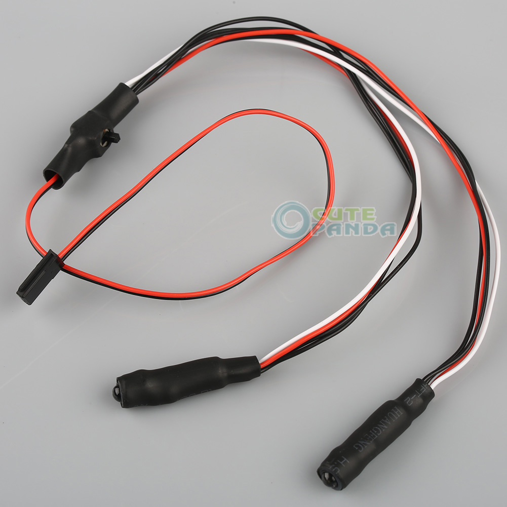5mm 2Leds red+white Angel &amp; Demon Eyes LED Headlight Back Light for 1/10 rc Car<br><br>Aliexpress