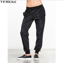 YEMEKE Fashion New Stripe Mesh Patchwork Women Pants Sporting Leggings Fitness Summer Dry Quick Force Exercise Pants For Women(China)