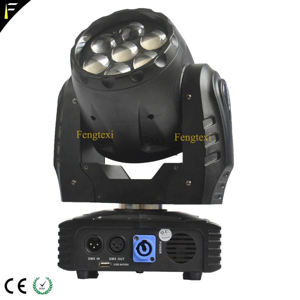 7x15w LED Zoom Moving Heads