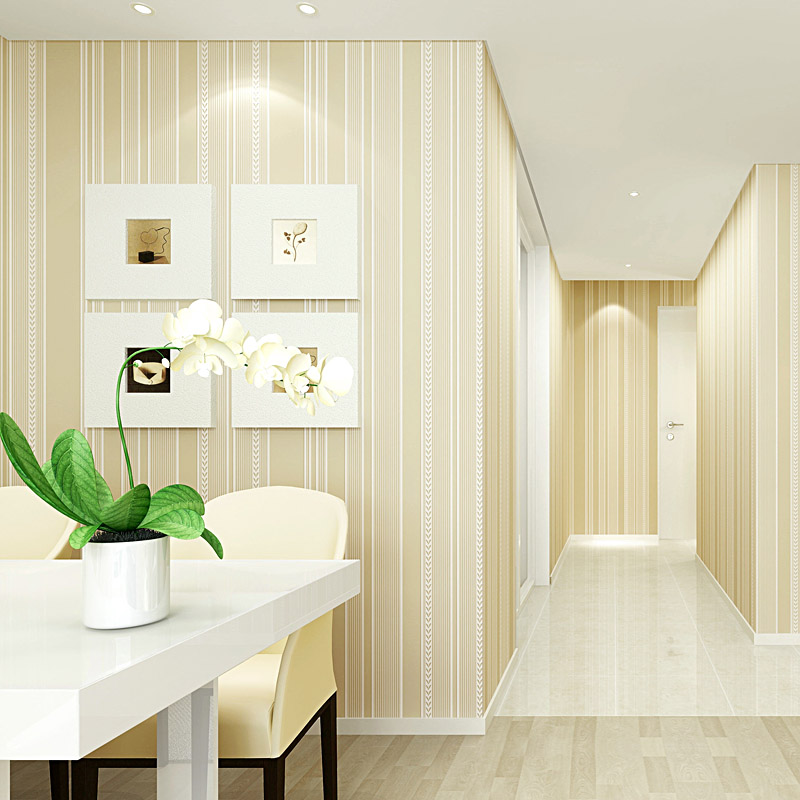 Non-woven Minimalist Wallpaper Modern  Vertical Stripe Vinyl Wallpaper Rolls  Wallcovering for Living Room and Bedroom<br>