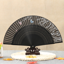 Free shipping 10pc Japanese blossoms Ladies High Bamboo Folding Hand Fans Wholesale Personalized Fan of Old Wedding Decoration
