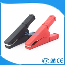 2 Pcs Electrical test clips/cheap alligator clips Length 70mm battery clip(China)