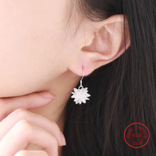 Ice Snow Drop Earrings 100% Real 925 Sterling Silver White Earrings Women Birthday Gift Wholesale DE537